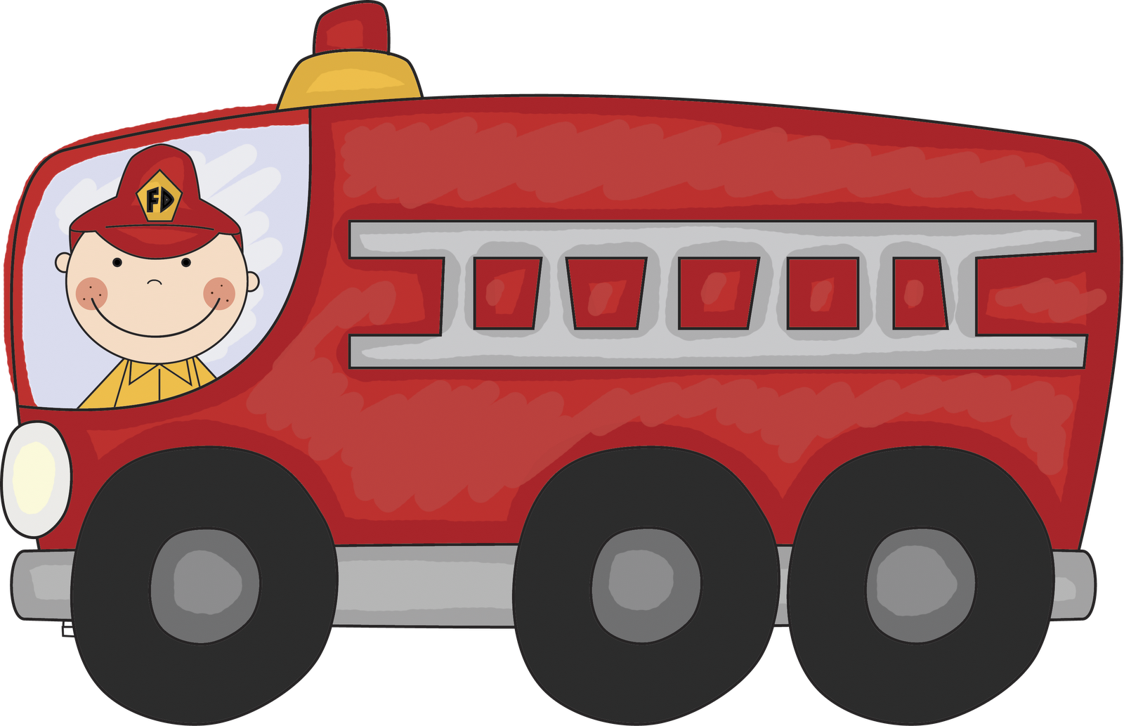Vintage fire truck clipart free clipart images.