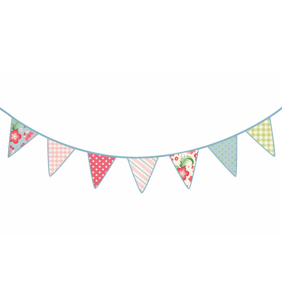 Vintage Bunting Banner Clipart.