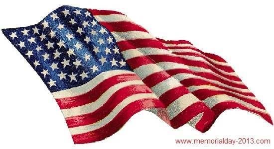 Memorial Day USA Flag Clip Art Pictures, Images, Borders.