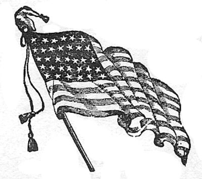 Antique American Flag Clipart Images.