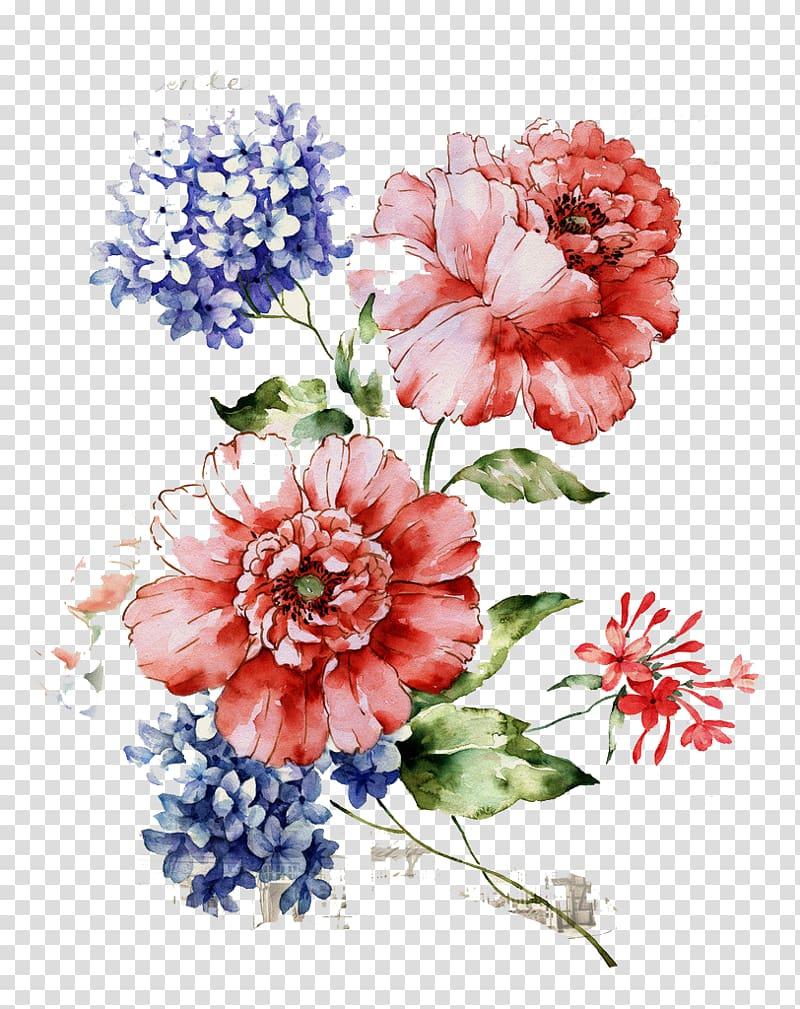 Flower Floral design , Beautiful vintage floral pattern.