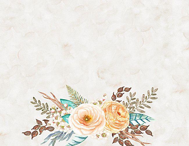 Watercolor Floral Background Vintage Poster.