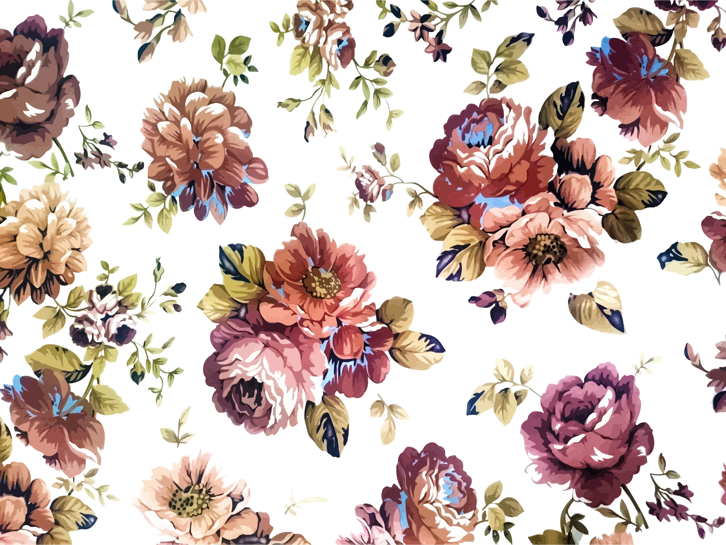 Vintage Flower Background Png (#930446).