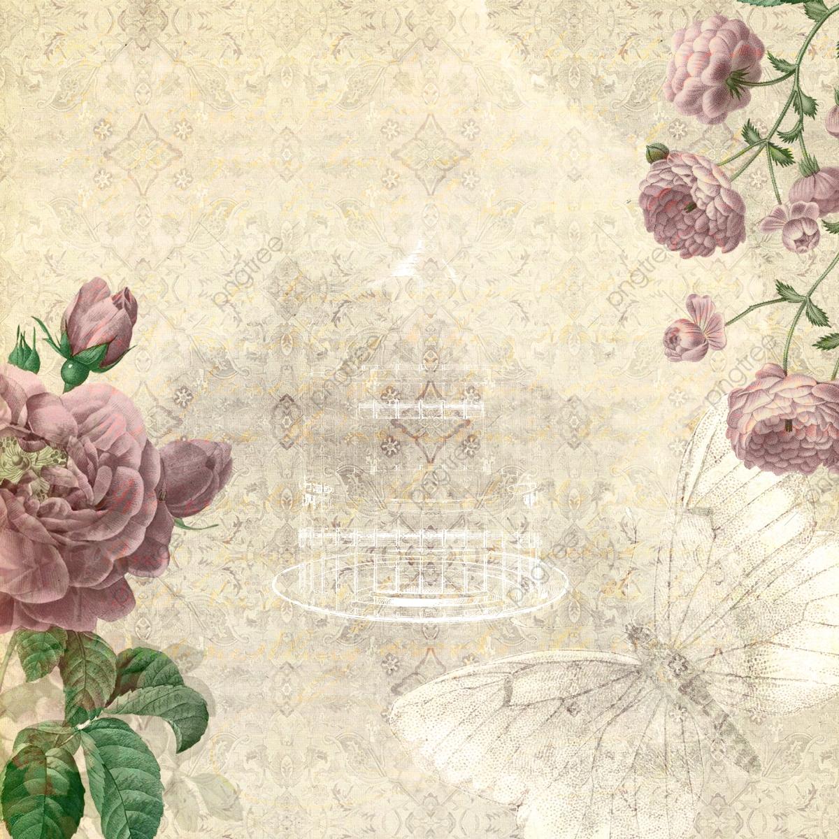 Vintage Floral Background, Background, Vintage Floral.