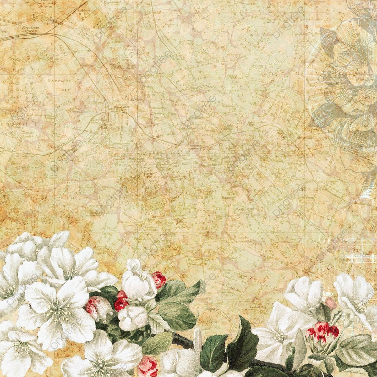 Elegant Vintage Floral Background, Background, Vintage.
