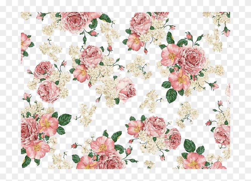 Vintage Floral Background Png, Transparent Png.