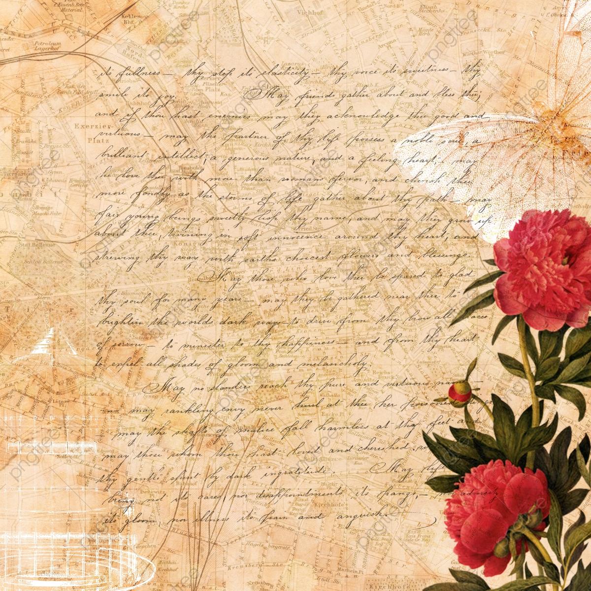 Vintage Floral Background, Background, Vintage Floral, Text.