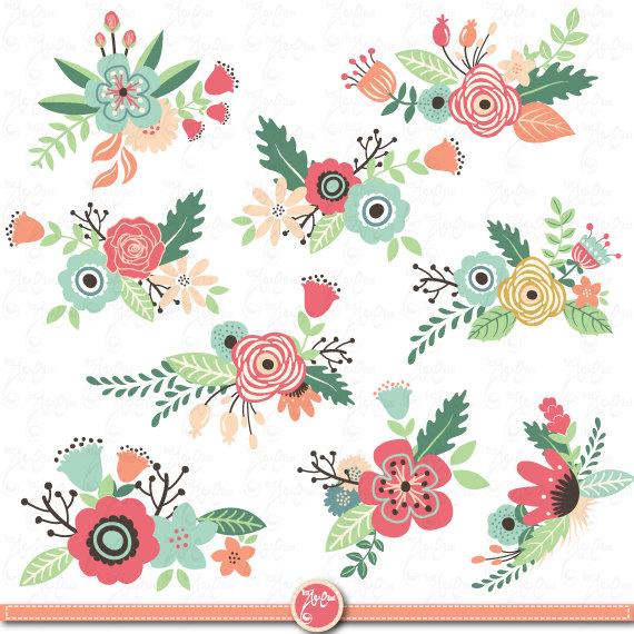 Flowers clip art\