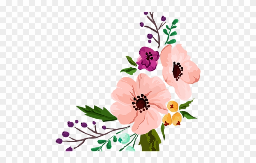 Vintage Flower Clipart Dainty Flower.
