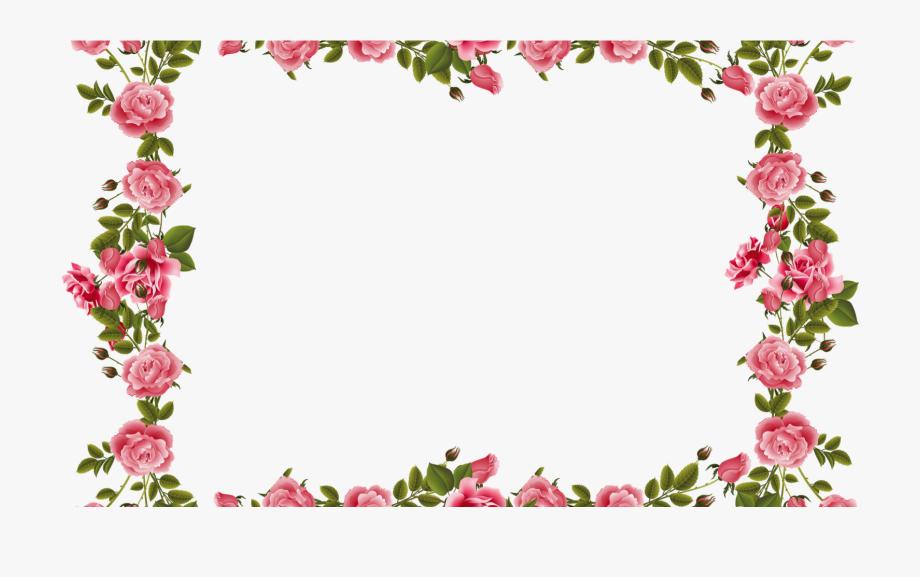 Clip Art Borders Flowers Rose #2853546.