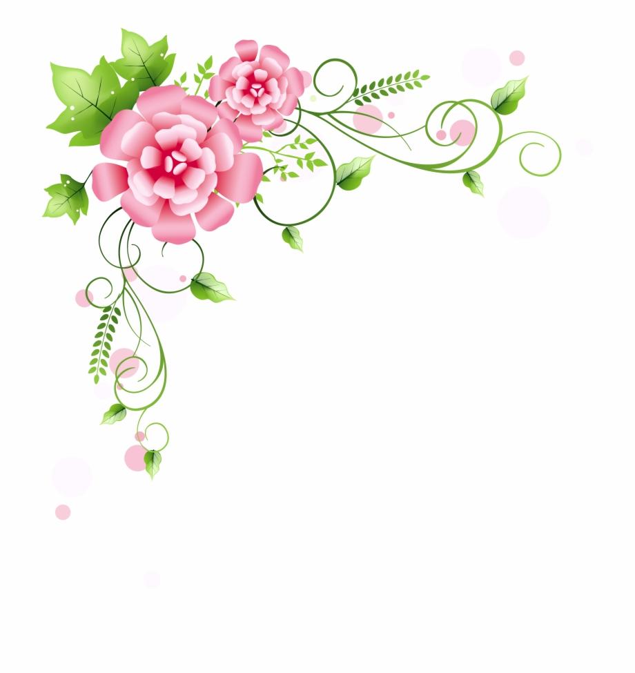 Corner Floral Decoration Png Clipart Picture.