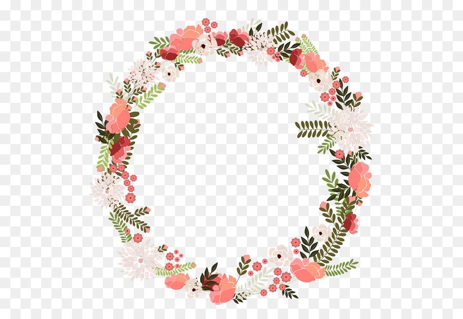 Watercolor Flower Wreath png download.