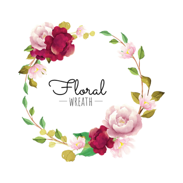 Flower Wreath Png, Vector, PSD, and Clipart With Transparent.