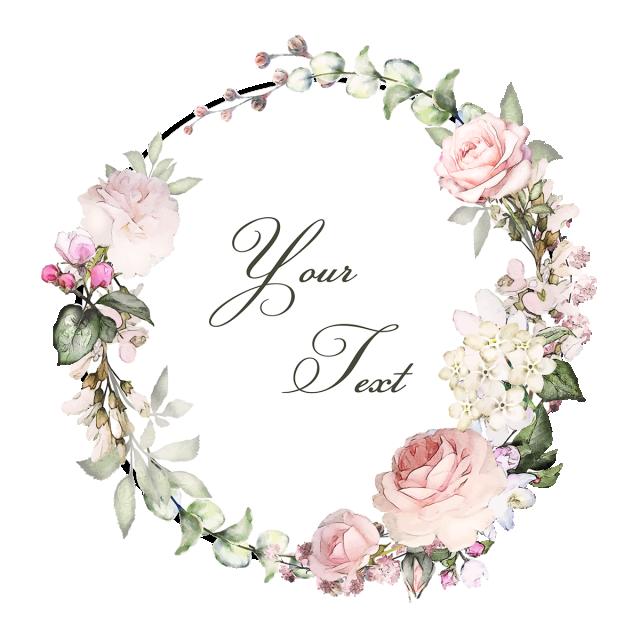 Vintage Floral Wreaths With Typography, Vintage, Floral.