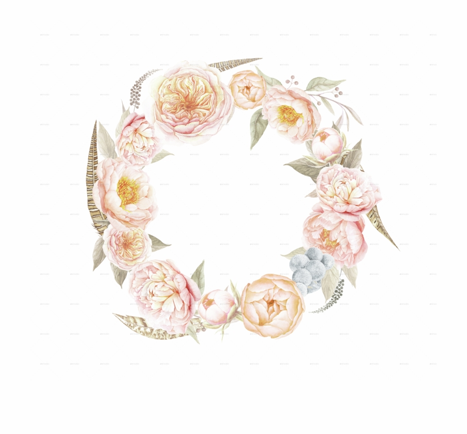Flower Wreath Vintage Png, Transparent Png Download For Free.