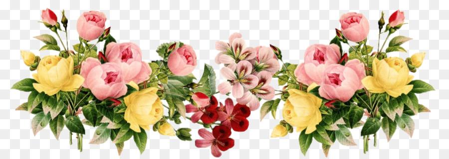 Floral Design Border png download.