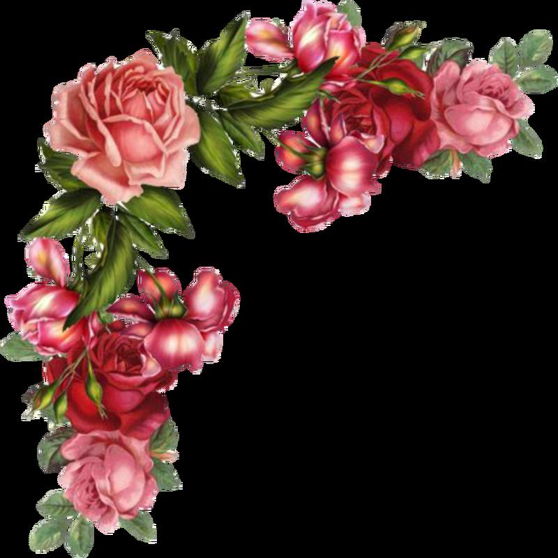 Flower Vintage Cliparts.