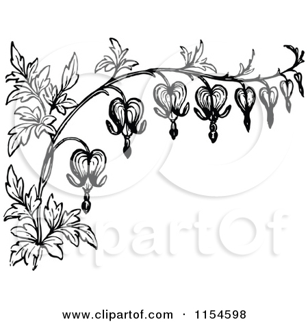 Clipart Of A Retro Vintage Black And White Border Bleeding