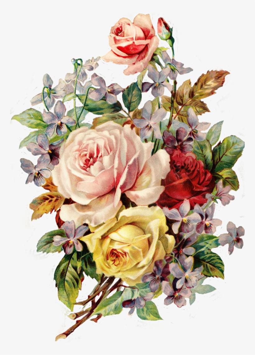 Vintage Flower Png.