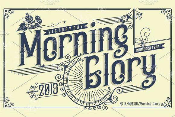 Morning Glory #Fonts vintage victorian victorian font.