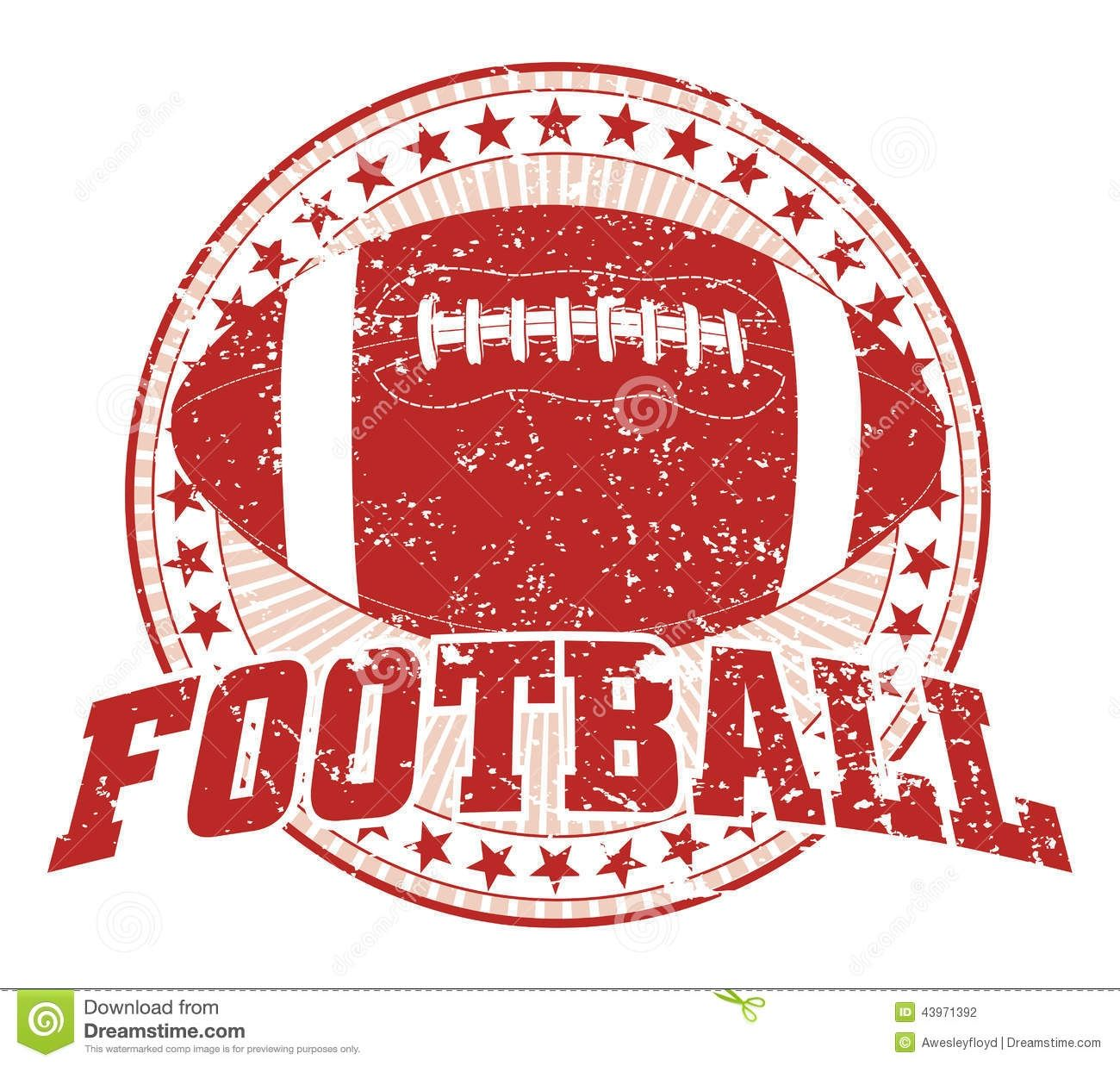 Image result for distressed football clipart.