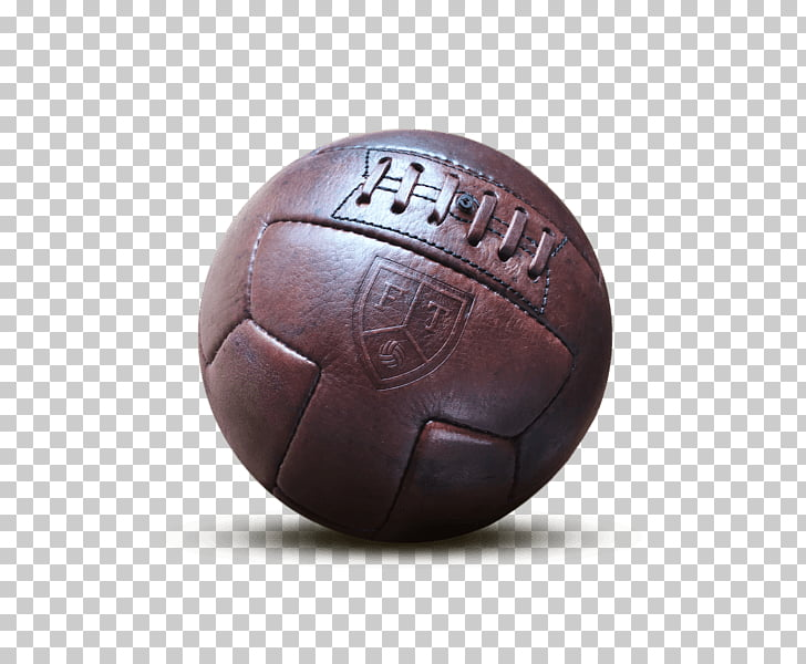 Leather Vintage Football Ball, maroon ball PNG clipart.
