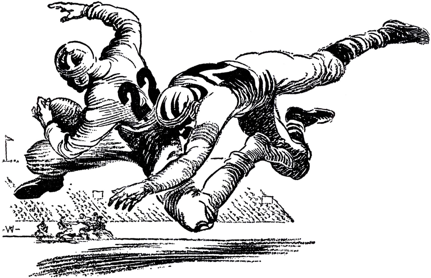 Vintage Football Image.