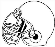 vintage football helmet clipart #4