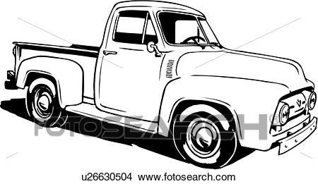 1956 Ford F100 Clip Art.