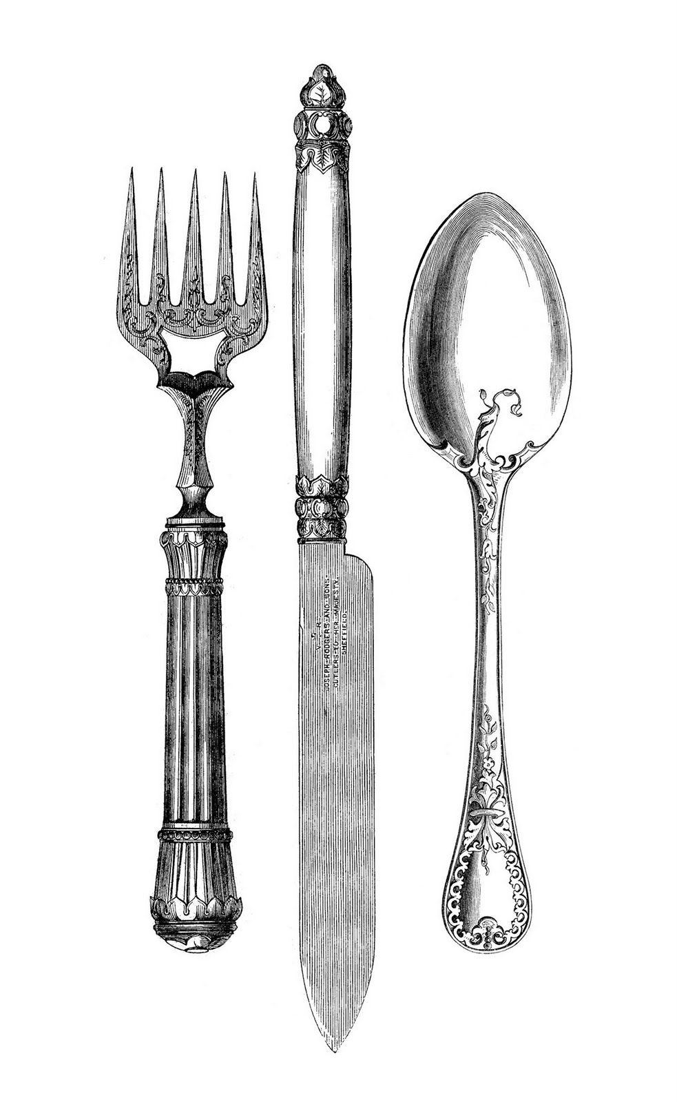 7 Free Fork and Spoon Clipart.