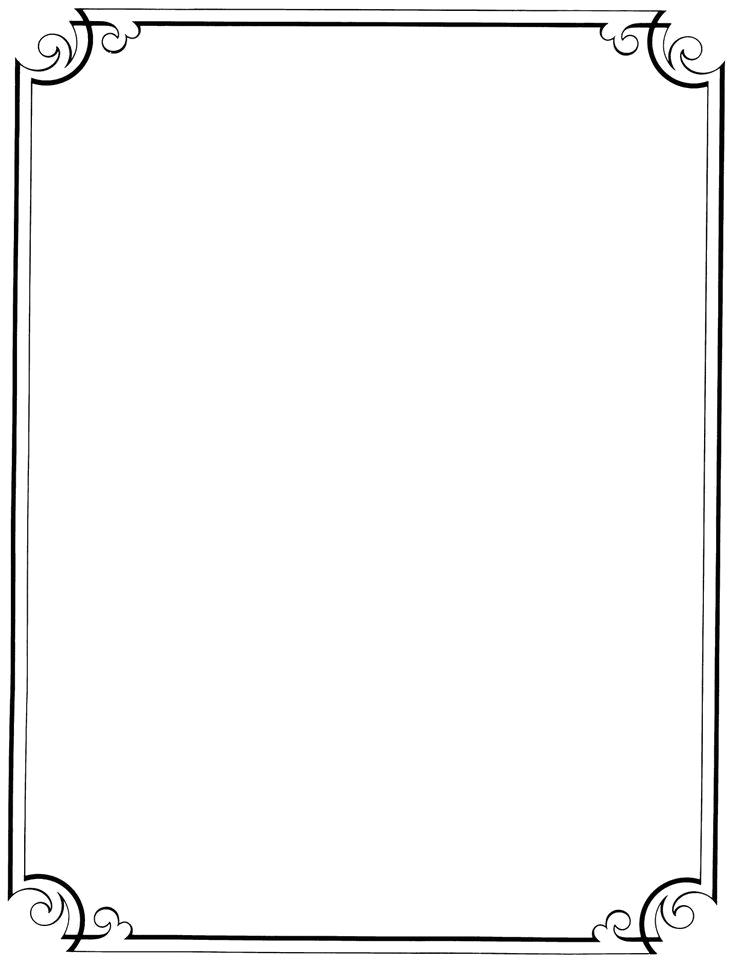 Elegant Border Frame Png Vector, Clipart, PSD.