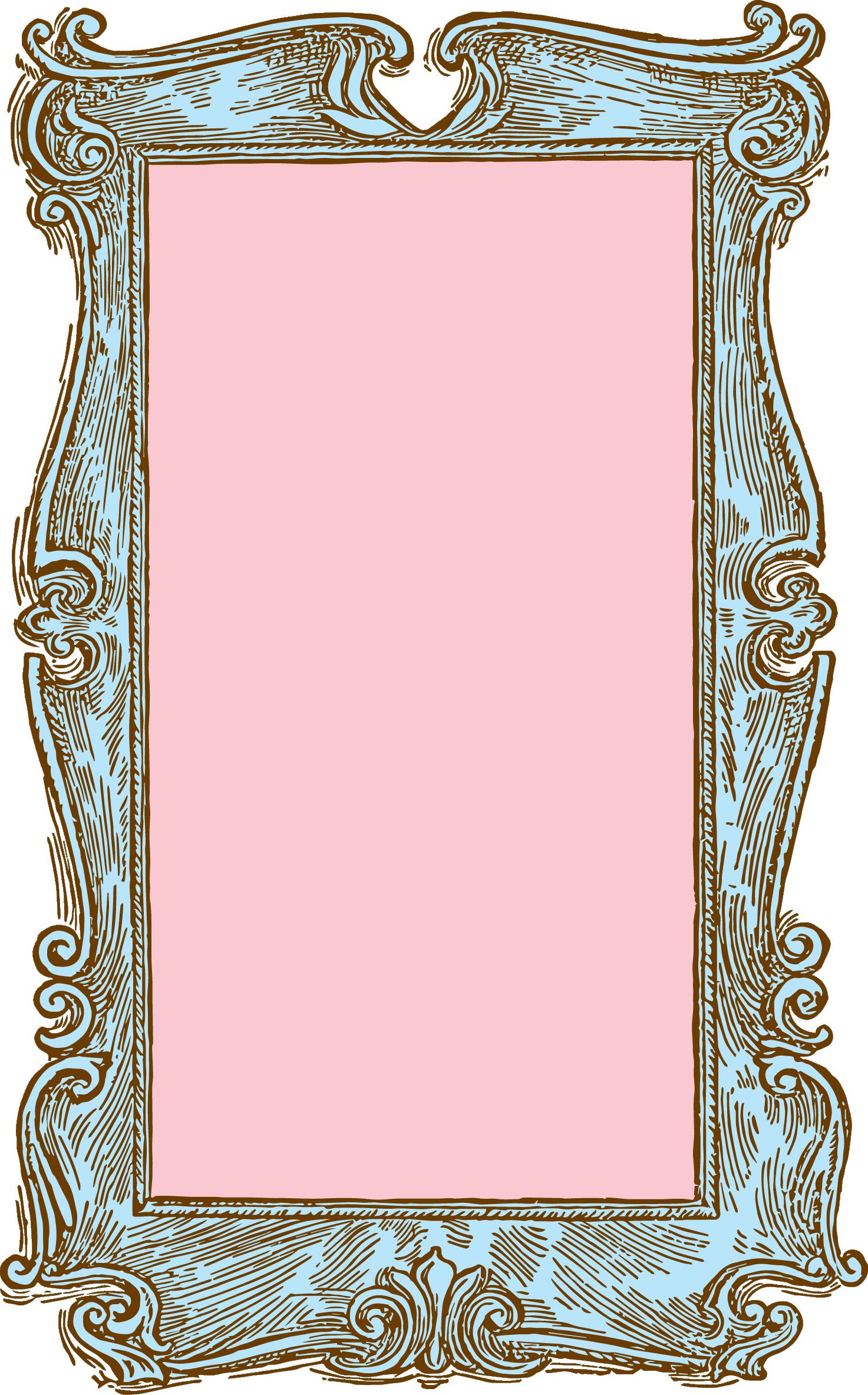 Chalk Transparent Border: Vintage Frame Clipart Free