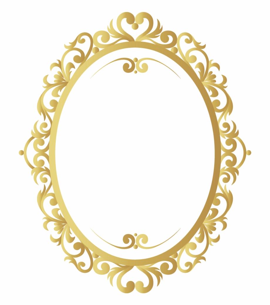 Vector Vintage Frame Gold Pattern Border.