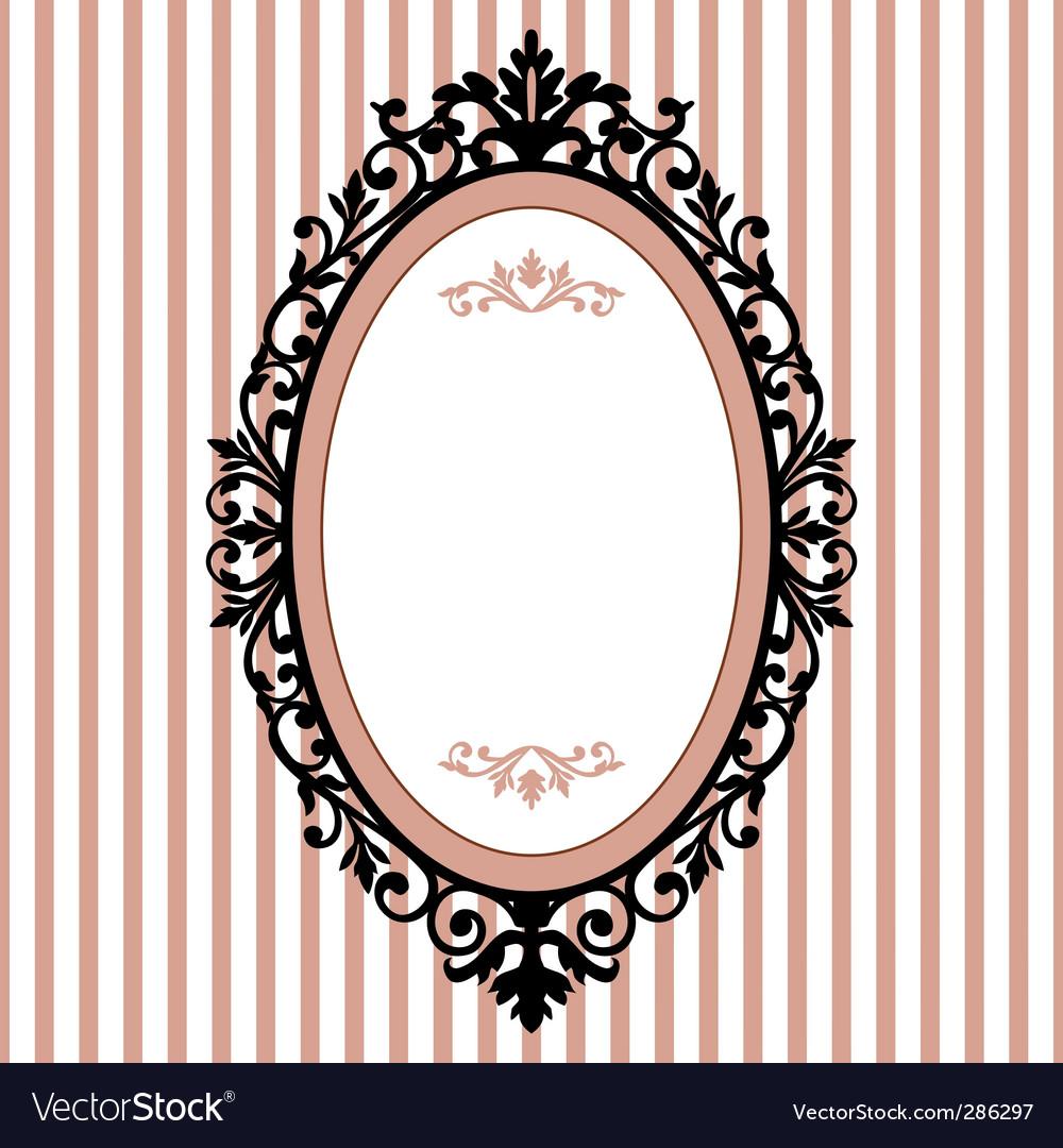 Oval vintage frame.