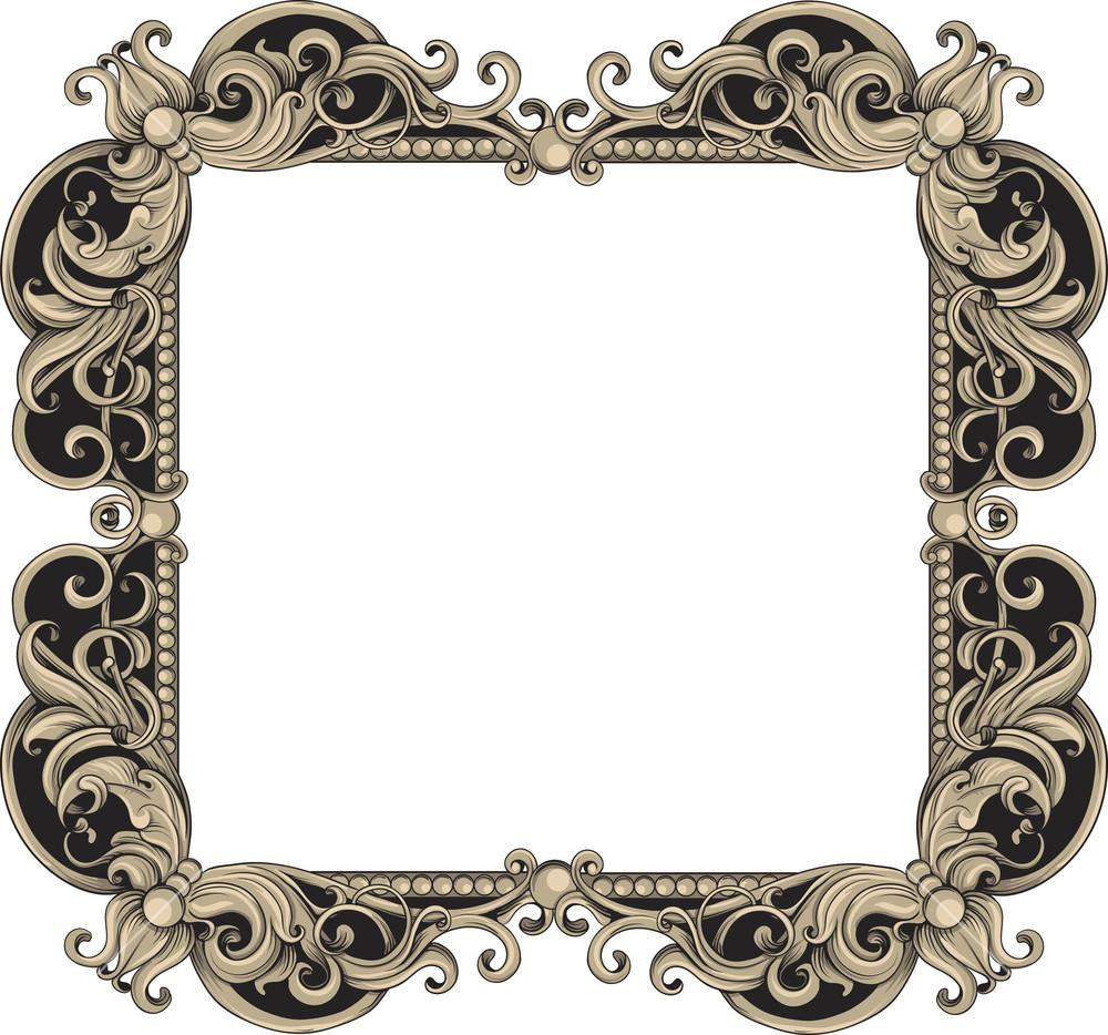 Vintage Frame Vector Element Royalty.