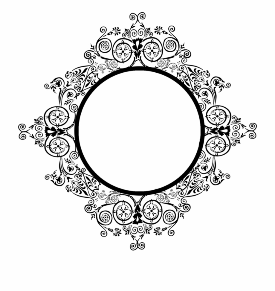 Oval Ornamental Frame Vector Free Download.