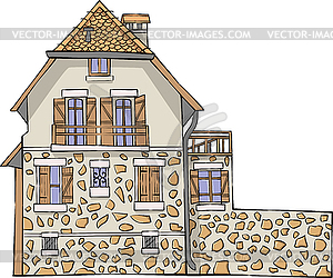 Traditional French stone house.