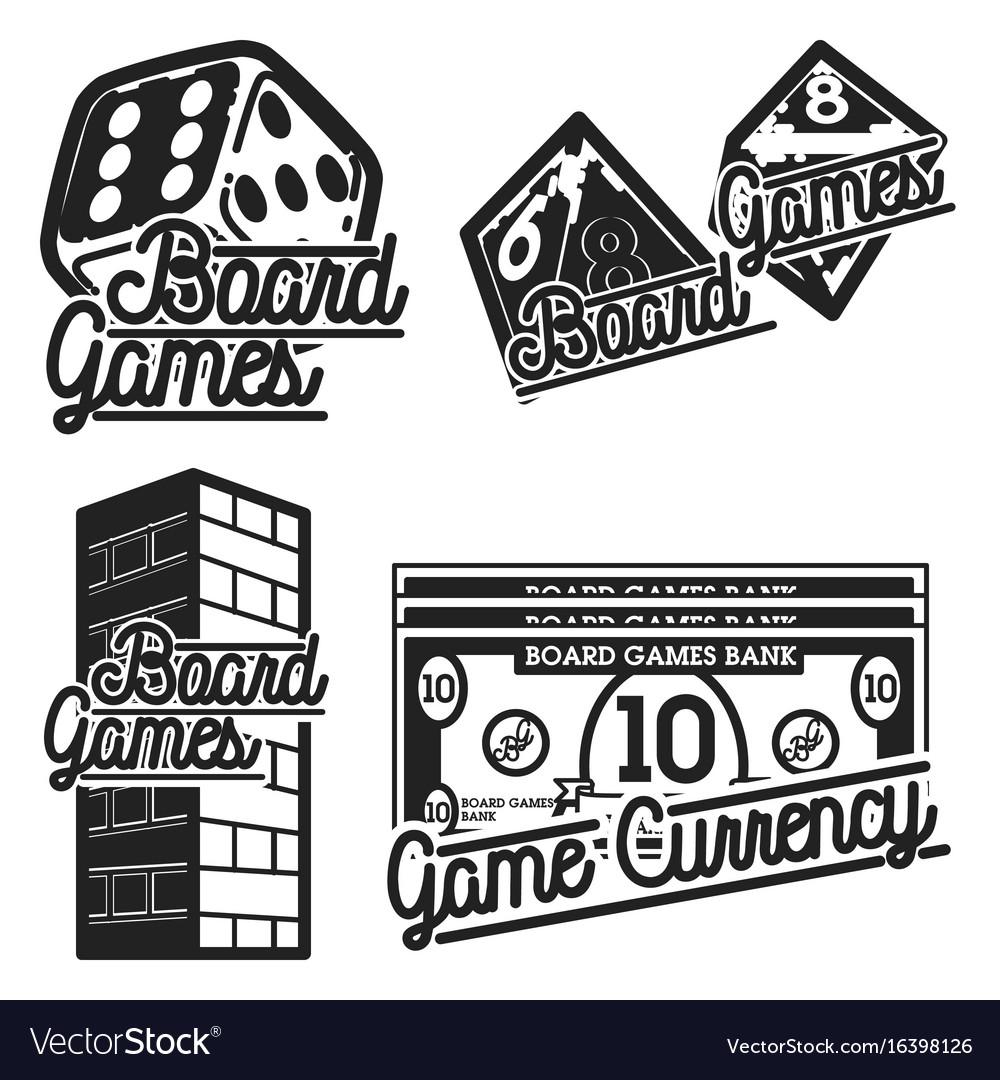 Vintage board games emblems.