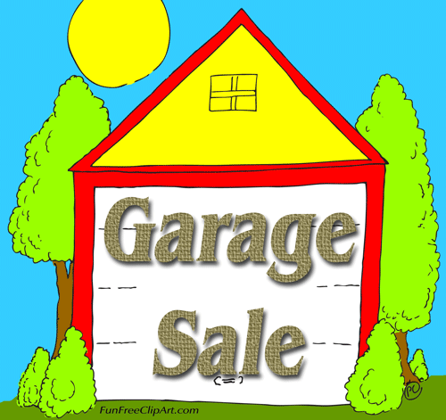 Vintage garage sale clipart clipartfest.