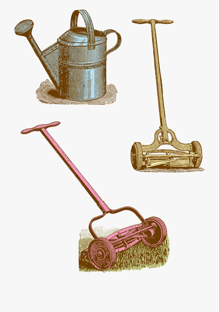 Garden Tool Border Clip Art.