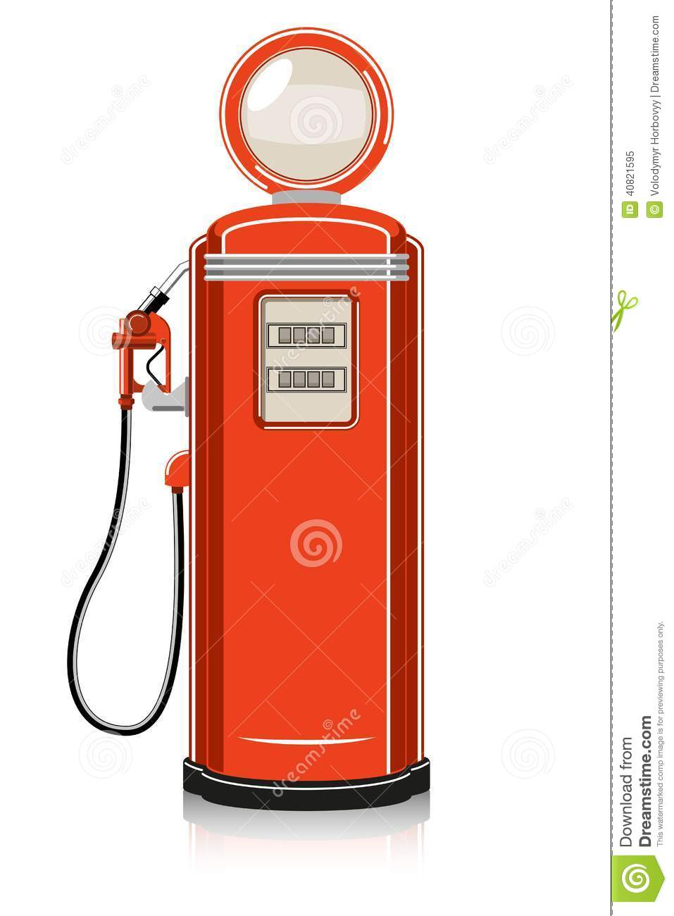 Vintage gas station clipart.