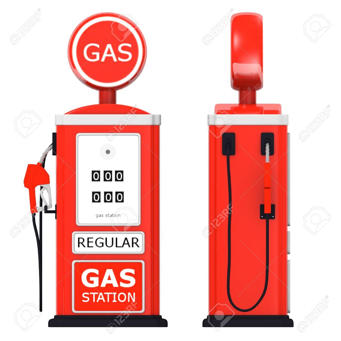3d Render Of Gas Station Stock Photo, Picture And Royalty Free.