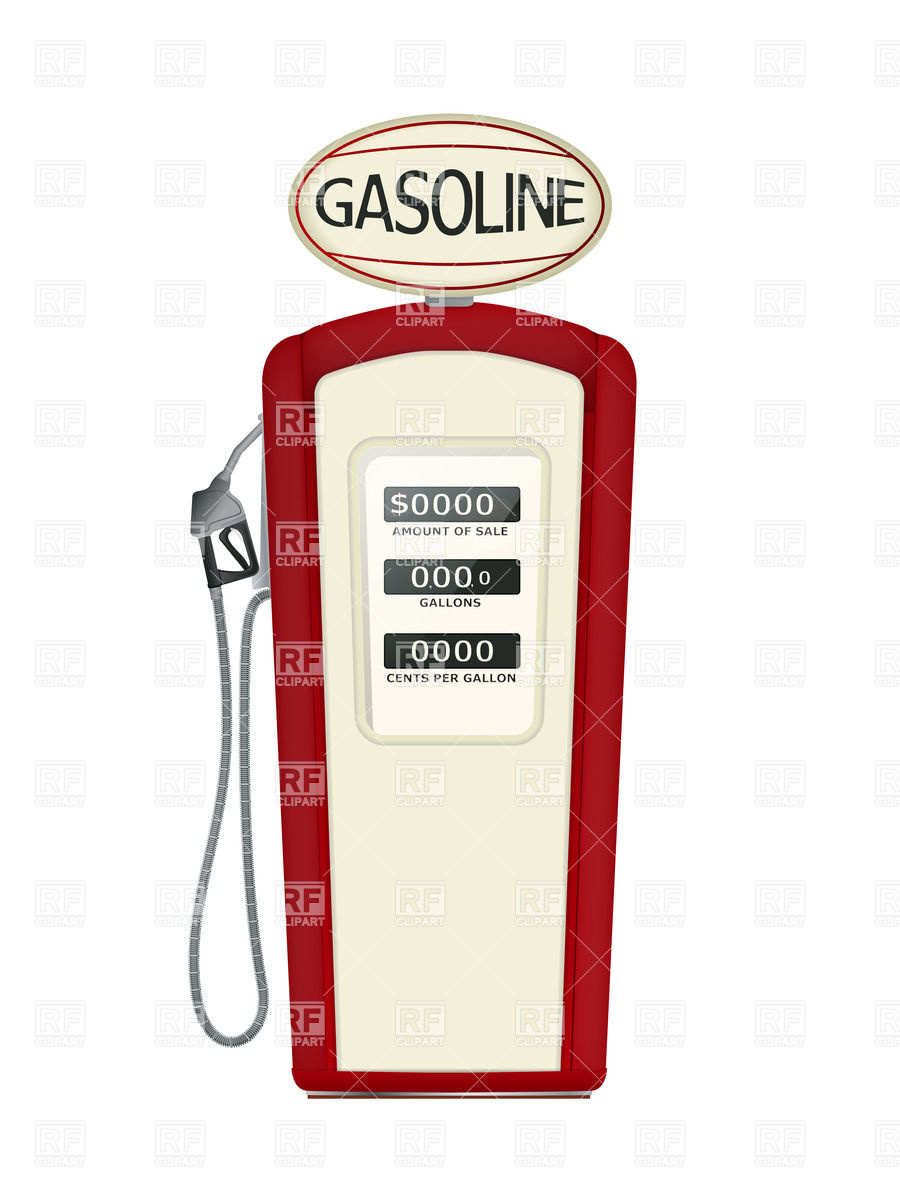 Old fashioned gas pump clipart.