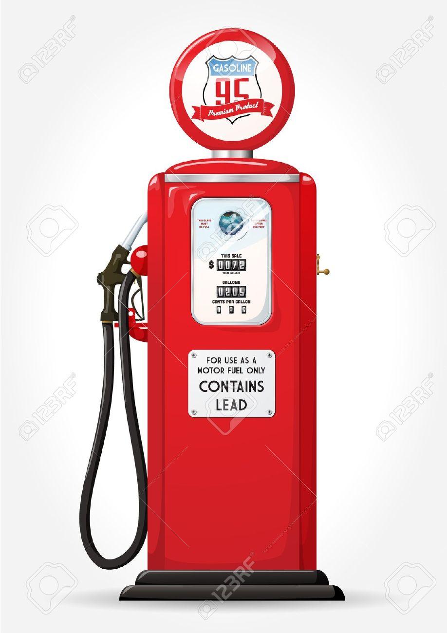 Gasoline Pump Retro Design Royalty Free Cliparts, Vectors, And.