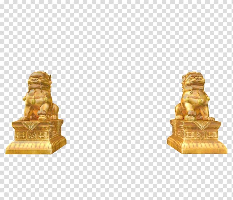 Lions Gate , Palace entrance gold lion effect map.