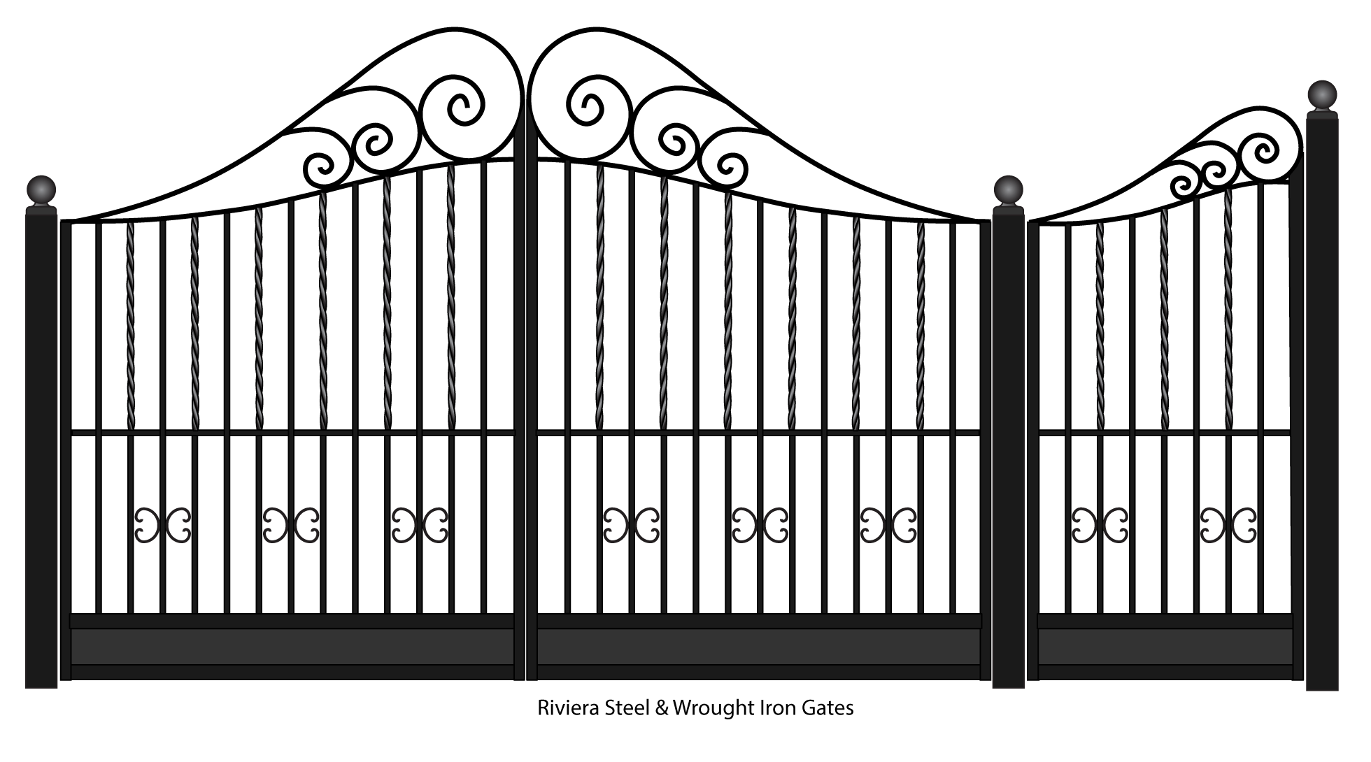 Riviera Wrought Iron entrance gates in 2019.