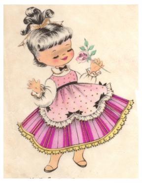 Vintage Girl Clipart.