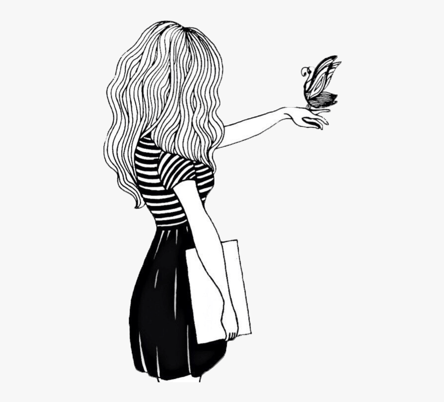 Karma Drawing Girl Tumblr Black.