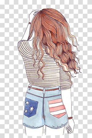 Girl Tumblr transparent background PNG cliparts free.