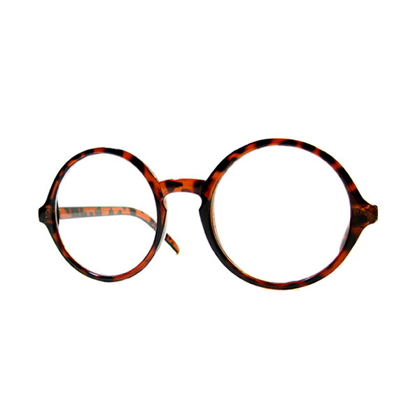 Round Vintage Wizard Retro Clear Glasses.